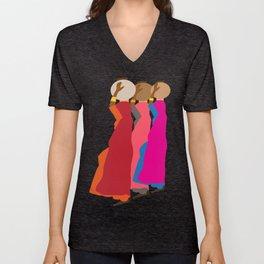Three women carrying water 1 Unisex V-Neck