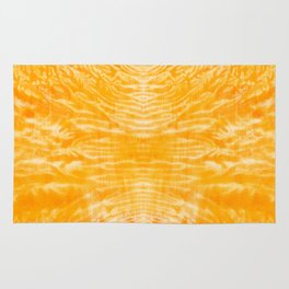 underwater fire, a coral dream of tree branches in orange Rug