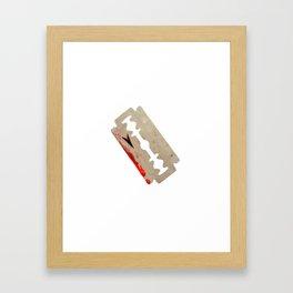 Razor Blade Framed Art Print