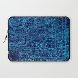 15-Washington West Columbia 1945, old vintage blue map Laptop Sleeve