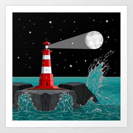 Moon Maker Art Print