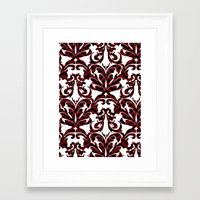 damask Framed Art Prints featuring Damask by Annie Skrmetti