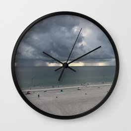 Storm In the Distance Wall Clock