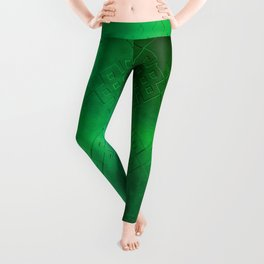Eternal Knot Pattern 2 (Emerald) Leggings