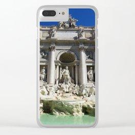 Fontana di Trevi al sole Clear iPhone Case