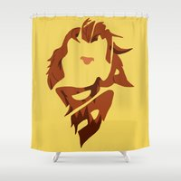 simba Shower Curtains featuring Simba by pokegirl93