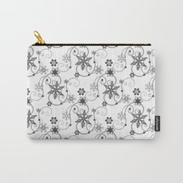 Snowflakes (Black) Carry-All Pouch