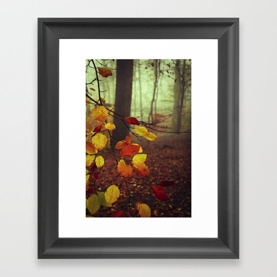 Leaves in Autumn Framed Art Print