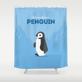 The Penguin Shower Curtain