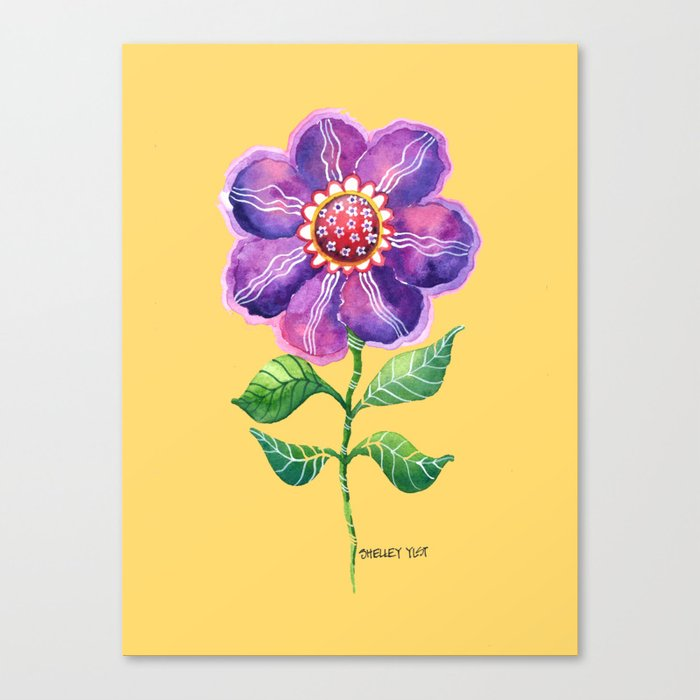 A Study in Violet Canvas Print