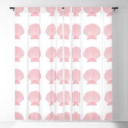 Coral Seashell Blackout Curtain