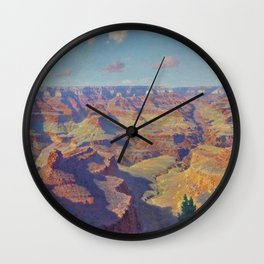 Grand Canyon Landscape Painting by William R. Leigh Wall Clock