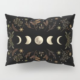 Moonlight Garden - Winter Brown Pillow Sham