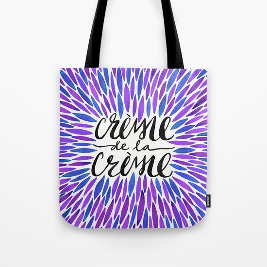 Crème de la Crème – Periwinkle Tote Bag