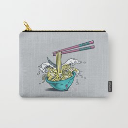 The Great Wave of Noodles with chopstick Carry-All Pouch