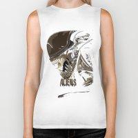 aliens Biker Tanks featuring Aliens by OzoneO3