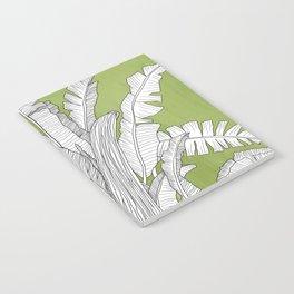 Banana Leaves Illustration - Green Notebook