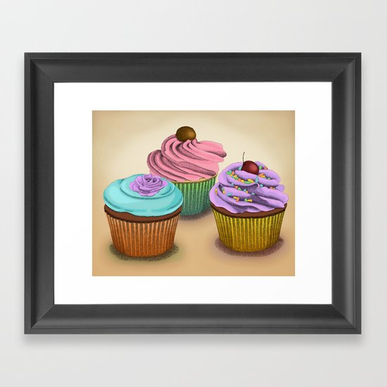 Cupcakes!  Framed Art Print