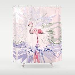 Floating Flamingo Shower Curtain