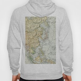 China, Russia, Japan Vintage Map Hoody