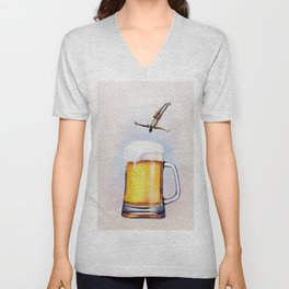 Beer Pool Unisex V-Neck