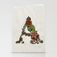 Stationery Cards featuring A is for... by Valentina Harper