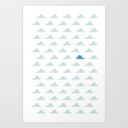 Cloudy Day Pattern 1 Art Print