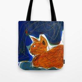 Socca Ginger Cat Art Tote Bag