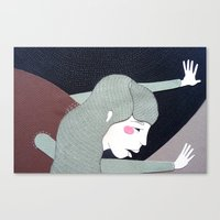 super hero Canvas Prints featuring Super Hero by Akisiew