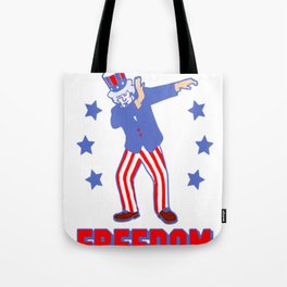 DAB FOR FREEDOM TANK TOP Tote Bag