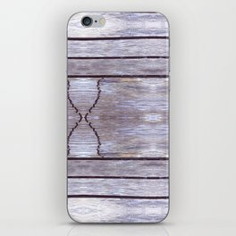 Cracked Wood Photo iPhone Skin