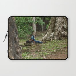 Afternoon Nap Near Baphuon Temple, Angkor Thom, Siem Reap, Cambodia Laptop Sleeve