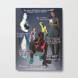 Super Women Metal Print