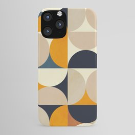mid century abstract shapes fall winter 1 iPhone Case