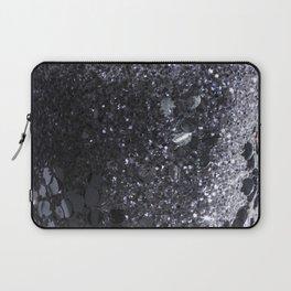 Black and Gray Glitter Bomb Laptop Sleeve