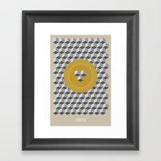 Geometria   Yellow Framed Art Print