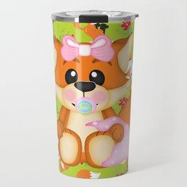Foxy Christmas Baby Girl Travel Mug