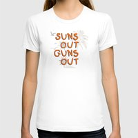 guns T-shirts featuring Guns Out by Free Specie