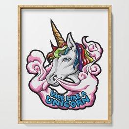 Vape Like A Unicorn | Cloud Chaser Illustration Serving Tray
