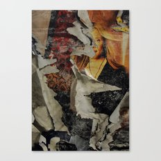 Peeling: Blonde Woman Canvas Print