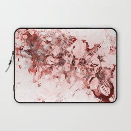 4 23 Abstract Cherry Blossoms in Red Laptop Sleeve