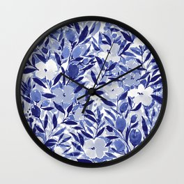 Nonchalant Indigo Wall Clock