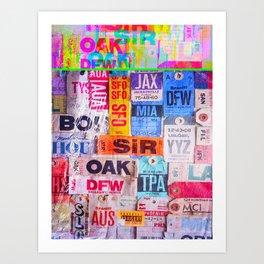 text travel Art Print