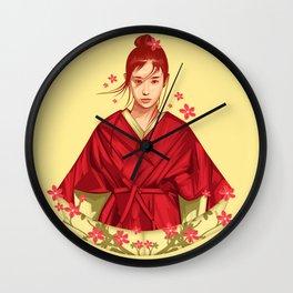 Soul Of Sakura Wall Clock