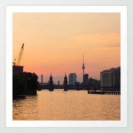berlin kreuzberg -  skyline and sunset Art Print