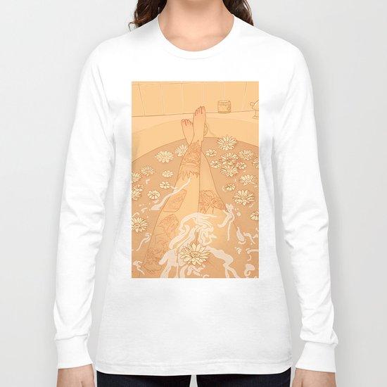 Flower Bath 10 (censored version) Long Sleeve T-shirt