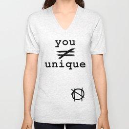 you do not equal unique Unisex V-Neck