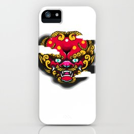 Red Foo Dog iPhone Case