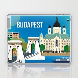 Budapest, Hungary - Skyline Illustration by Loose Petals Laptop & iPad Skin