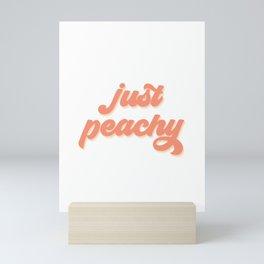 Just Peachy Retro Quote Mini Art Print